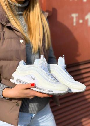 Nike air force 97 шикарные женские белые кроссовки найк (весна...