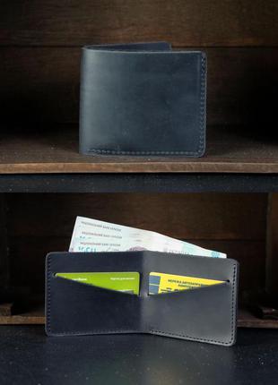 Кожаный компактный кошелек мужской натуральная винтажная кожа ...