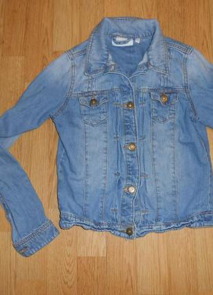 Куртка джинсовая на девочку 10-11 лет