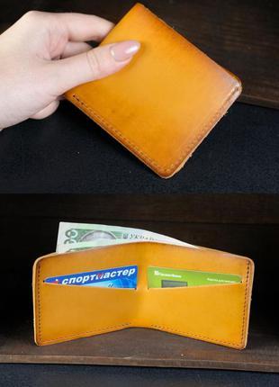 Кожаный компактный кошелек женский натуральная кожа итальянски...