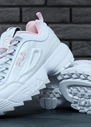 Распродажа fila disruptor white женские кроссовки фила белые