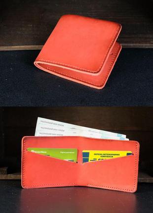Кожаный компактный кошелек натуральная кожа итальянский краст ...