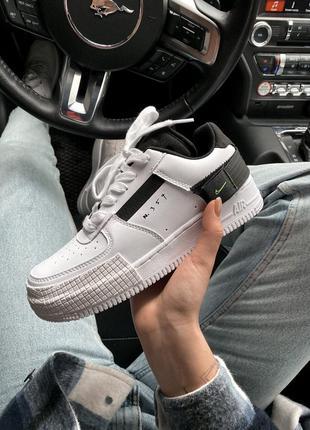 Nike air force 1  white n 354 шикарные женские кроссовки найк ...