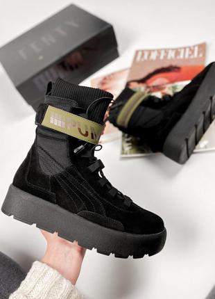 Fenty x puma scuba boot black шикарные женские ботинки сапоги ...