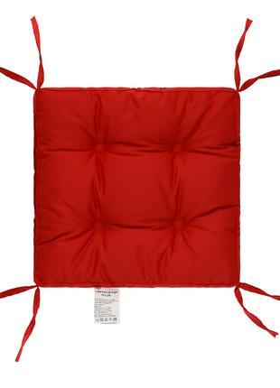 Подушка на стул Красная 40х40 борт 5 см. Подушки на стулья. Чехол