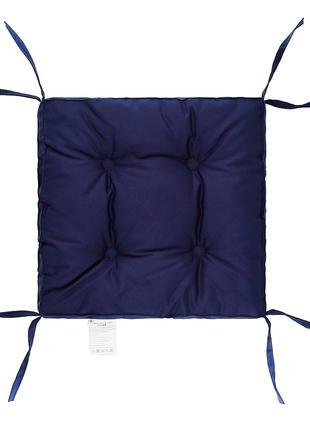 Подушка на стул Синяя 40х40 см борт 5 см. Подушки на стулья.