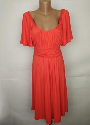 Платье трикотажное натуральное коралловое новое dorothy perkin...