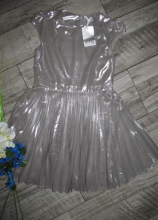 Next  платье плиссе  на 7 лет -122см