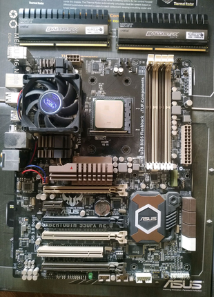 Комплект AMD FX-8350+ ASUS Sabertooth 990fx r.2+ Crucial 16 gb