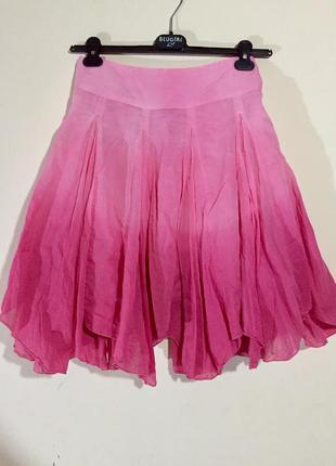 Шикарная летняя, ассиметричная, пышная, яркая юбка с градиентом
