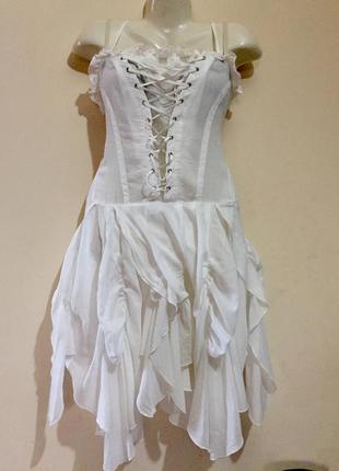 Летнее лёгкое нарядное и необычное платье gff