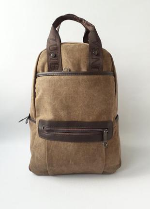 Рюкзак-сумка, брезентовый рюкзак