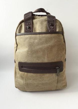 Качественный рюкзак-сумка, брезентовый рюкзак