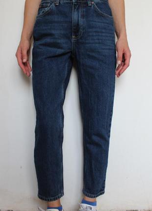 Topshop petite укороченные джинсы mom бойфренд с высокой посад...