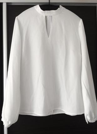 Блуза рубашка ,белоснежная, 38