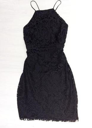Little black dress, чёрное кружевное платье, 38