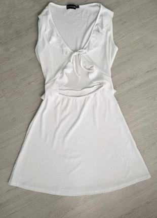 Платье с рюшами на завязках, 38