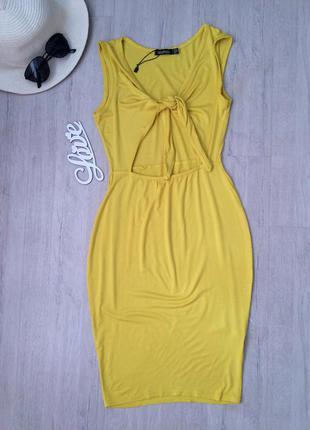 Платье миди с завязками, boohoo,36