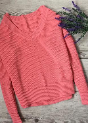 Объёмный джемпер свитер полувер, 38