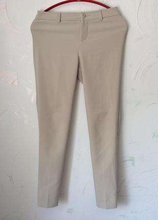 Укорочённые брюки штаны скини, беж