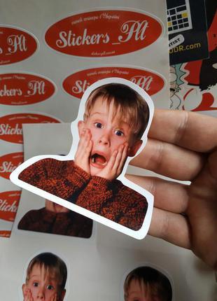 Стикер - визитка. Разработка дизайна. Печать