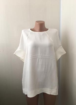 Бесподобная белая блузка блуза топ, оверсайз, вискоза, бренд cos