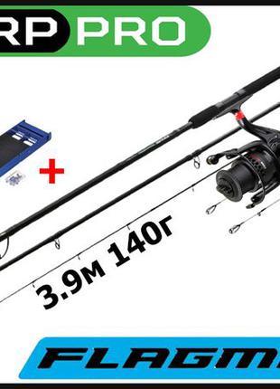 Комплект Фидер Carp Pro BlackPool 3.9m 140g 4.2m 160g + Катушк...