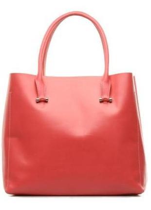 Яркая эффектная сумка шоппер, натуральная кожа, люкс бренд  l....