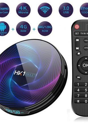 Смарт тв приставка Android Смарт TV - HK1 Max 4gb /64gb