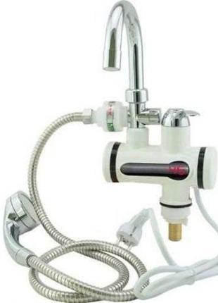 Проточный водонагреватель на душ и на кран рапид делимано c LCD
