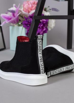 Lux обувь! натуральные замшевые демисезонные ботинки унисекс д...