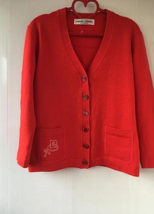 Винтаж! кардиган шерстяной пиджак, натуральная шерсть , цвет к...