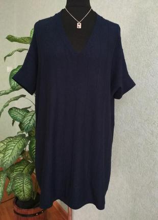 Удлиненный свитер с v-образным вырезом оверсайз tu/women.