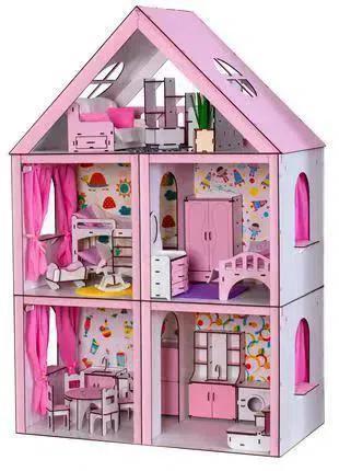 Кукольный домик Большой Особняк Барби + мебель в ПОДАРОК