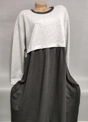 Женское платье трикотажное больших размеров 54-58