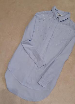 Рубашка с камнями и жемчугом размер 10 george