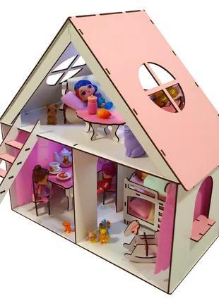 Кукольный домик LITTLE FUN + мебель в  ПОДАРОК