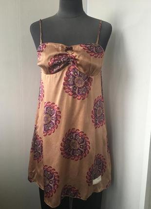 Ночнушка шелковая  ночная сорочка, платье натуральный шелк, сша
