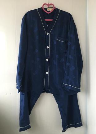 Роскошная шелковая пижама, домашний костюм, натуральный шелк,