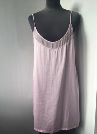Комфортная шелковая ночнушка, ночная рубашка, натуральный шелк,