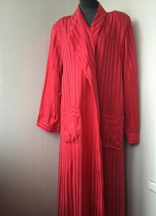 Роскошный длинный шелковый халат, натуральный шелк,