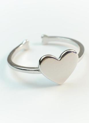 Серебряное кольцо - кольцо сердце серебро 925