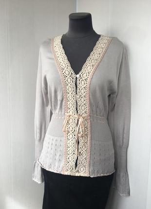 Восхитительная блуза кофточка кардиган, вышивка  прошва, люкс ...