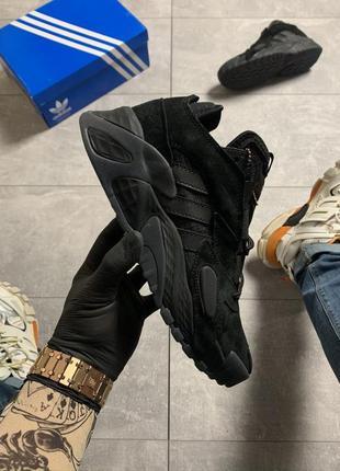 Качественные мужские кроссовки adidas streetball triple black.