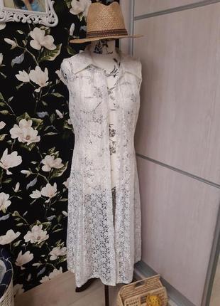 🌴пляжная накидка, платье, туника ажурная, в стиле бохо, винтаж🌴