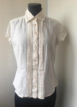 Рубашка блуза натуральная,рубаха лен, белая, weekend max mara ...