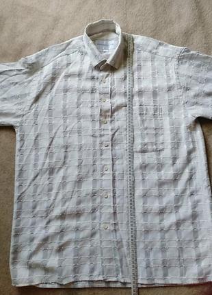 Мужская рубашка с коротким рукавом большого размера
