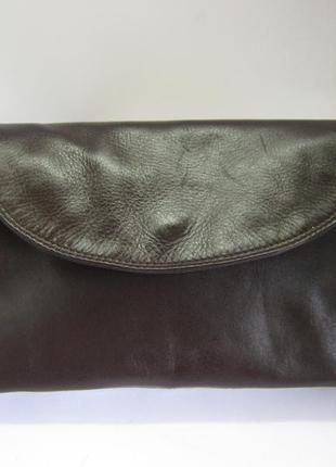 Удобная небольшая кожаная сумка кросс боди через плечо, натура...