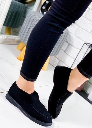 ❤ женские черные весенние демисезонные ботинки ботильоны ❤