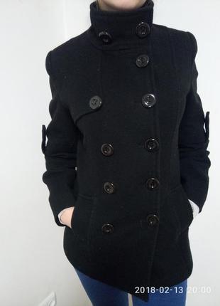Шерстяное поло пальто